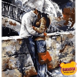 Купить картину по номерам Babylon Любовь под дождем, 40*50 см VP314