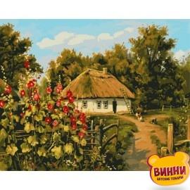 Купить картину по номерам Babylon Сельская хата, 40*50 см VP354