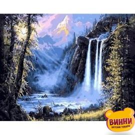 Купить картину по номерам Mariposa Горный водопад, 40*50 см Mariposa Q493