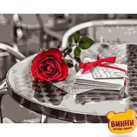 Купить картину по номерам Babylon Красная роза. худ.Ассаф Франк, 40*50 см VP698