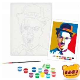 Картина по номерам Чарли Чаплин, 35*45 см в пленке, ROSA START 13163