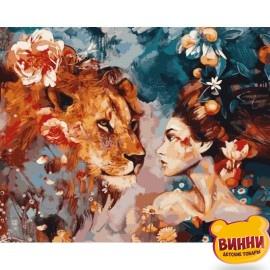 Купить картину по номерам Babylon Ее лев, 40*50 см VP965