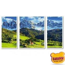 Купить триптих, картину по номерам Babylon Церковь Святой Марии Магдалины. Италия, Больцано VPT040