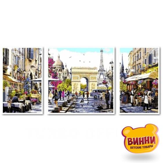Купить триптих, картину по номерам Babylon Париж - столица Франции, VPT046