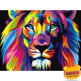 Купить картину по номерам Babylon Радужный лев, 50*65 см VKS001
