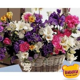 Купить картину по номерам Babylon Корзинка цветочного счастья, 40*50 см VP1038