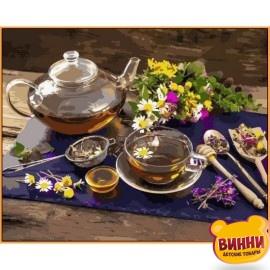 Купить картину по номерам Babylon Premium Чай с мёдом (в раме), 40*50 см, NB1136