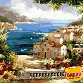 Купить картину по номерам Mariposa Веранда с видом на океан, 40*50 см Q2134