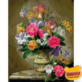 Купить картину по номерам Mariposa Розы цвета фламинго, 40*50 см Q2168