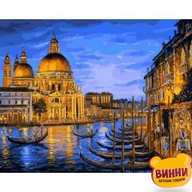 Купить картину по номерам Mariposa Причал ночной Венеции, 40*50 см Q2172