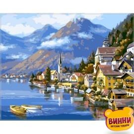Купить картину по номерам Babylon Альпийская деревня, 40*50 см VP218