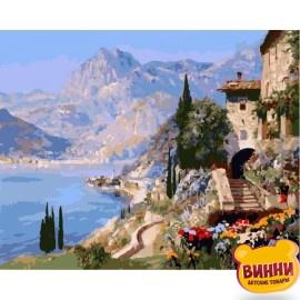 Купить картину по номерам Babylon Средиземноморский пейзаж, 40*50 см VP394