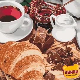Купить картину по номерам Идейка, Французский завтрак, 40*50 см KHO5573