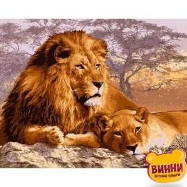 Купить картину по номерам Babylon Царственный отдых, 40*50 см VP992