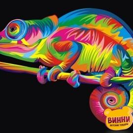 Купить картину по номерам Babylon Радужный хамелеон, 30*40 см VK005