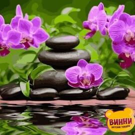 Купить картину по номерам Babylon Лиловые орхидеи, 30*40 см VK014