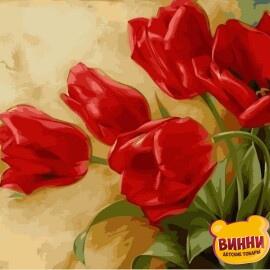Купить картину по номерам Babylon Букет тюльпанов, 30*40 см VK015