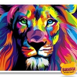 Купить триптих, картину по номерам Babylon Радужные животные, VPT022