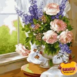 Купить картину по номерам Babylon Нежный букет в вазе, 30*40 см VK023
