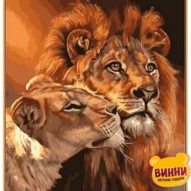Купить картину по номерам Babylon Premium Царственная пара (в раме), 40*50 см, NB033