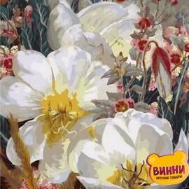 Купить картину по номерам Babylon Белоснежные кувшинки, 50*65 см QS1059