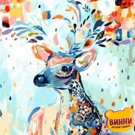 Купить картину по номерам Mariposa Сказочный олень, 40*50 см Q1095