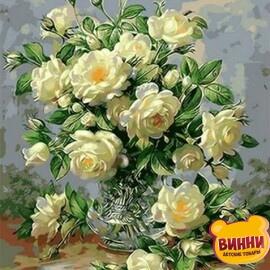 Купить картину по номерам Mariposa Букет белых роз, 40*50 см Q1115