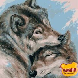 Купить картину по номерам Babylon Влюбленные волки, 40*50 см VP1129