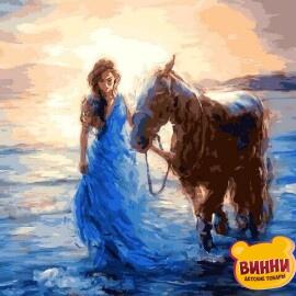 Купить картину по номерам Babylon Прогулка с лошадью, 40*50 см VP1207