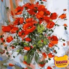 Купить картину по номерам Mariposa Нежные маки, 40*50 см Q1210