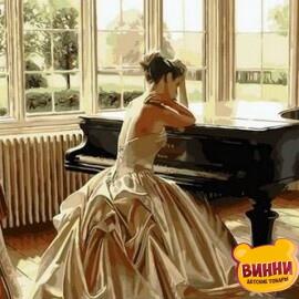 Купить картину по номерам Mariposa Девушка у рояля, 40*50 см Q1270