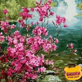Купить картину по номерам Mariposa Куст миндаля, 40*50 см Q1276