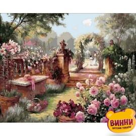 Купить картину по номерам Babylon Premium Райский сад (в раме), 40*50 см, NB1442
