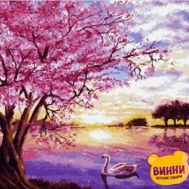 Купить картину по номерам Mariposa Закат в розовых тонах, 40*50 см Q2073