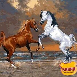 Купить картину по номерам Mariposa Лошади на берегу океана, 40*50 см Q2083