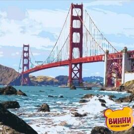 Купить картину по номерам Mariposa Мост Золотые Ворота, 40*50 см Q2095