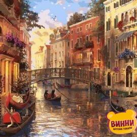 Купить картину по номерам Mariposa Закат в Венеции, 40*50 см Q2115
