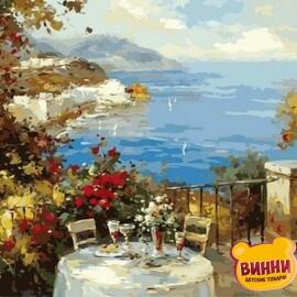 Купить картину по номерам Mariposa Завтрак на терассе, 40*50 см Q2135