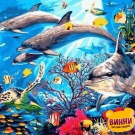 Купить картину по номерам Mariposa Подводный мир, 40*50 см Q2146