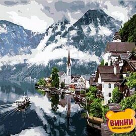 Купить картину по номерам Mariposa Швейцарские Альпы, 40*50 см Q352