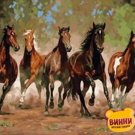 Купить картину по номерам Babylon Лошади в каньоне, 40*50 см VP469