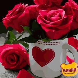 Купить картину по номерам ArtStory AS0020 Яркие розы
