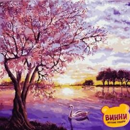 Купить картину по номерам ArtStory 40*40 см AS0228 Сиреневое утро
