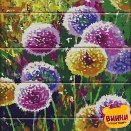 Купить роспись по номерам на дереве ArtStory Радужные одуванчики 30*40 см, ASW007