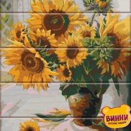 Купить роспись по номерам на дереве ArtStory Подсолнухи 30*40 см, ASW009