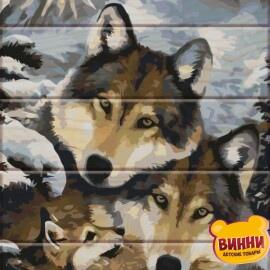 Купить роспись по номерам на дереве ArtStory Волки 30*40 см, ASW013