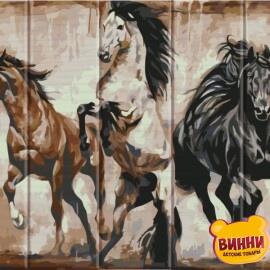 Купить роспись по номерам на дереве ArtStory Три масти 30*40 см, ASW019