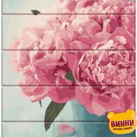 Купить роспись по номерам на дереве ArtStory Розовые пионы 30*40 см, ASW078