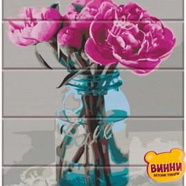 Купить роспись по номерам на дереве ArtStory Яркие пионы 30*40 см, ASW080