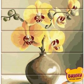 Купить роспись по номерам на дереве ArtStory Орхидеи 30*40 см, ASW089